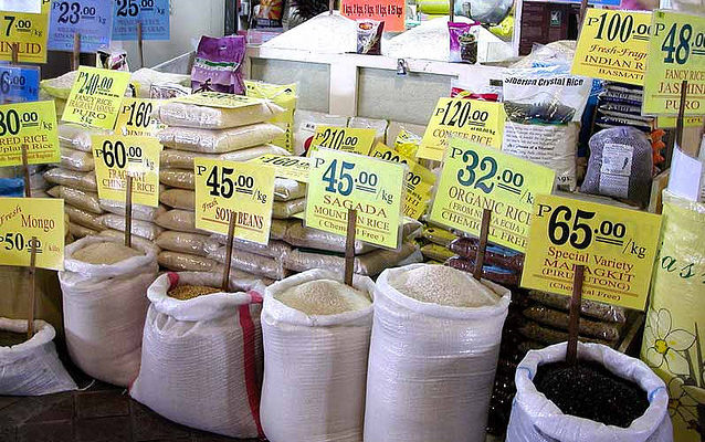selling rice