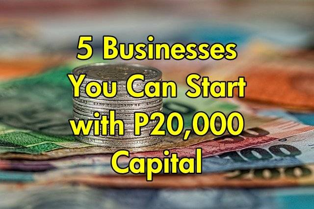Start With P20 000 Capital Business