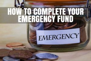 Complete emergency fund