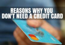 No to Credit Card