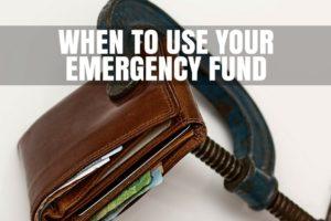 Use emergency fund