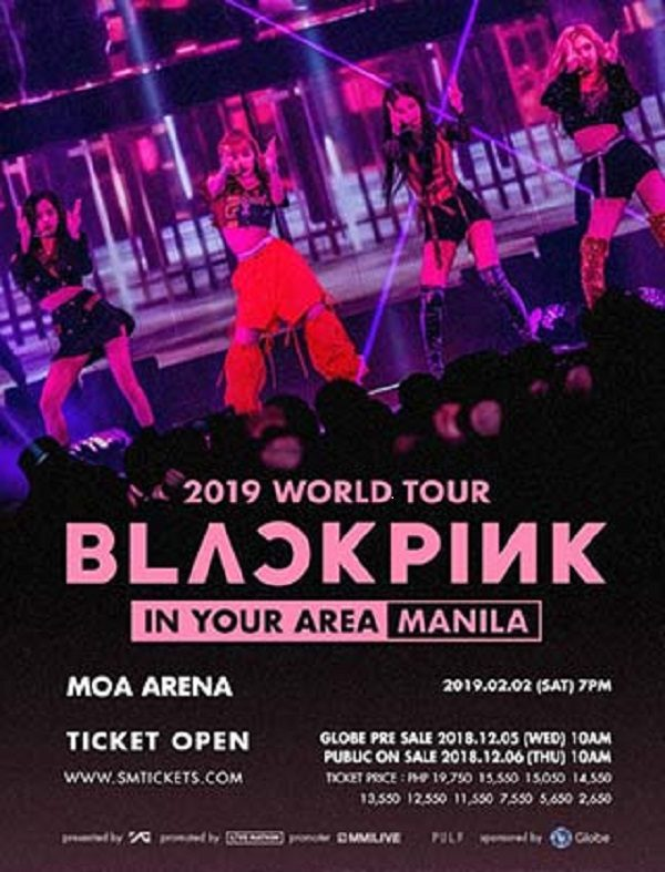 poster of Black Pink's concert in Manila