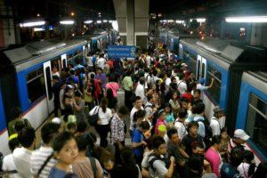 passengers entering the train