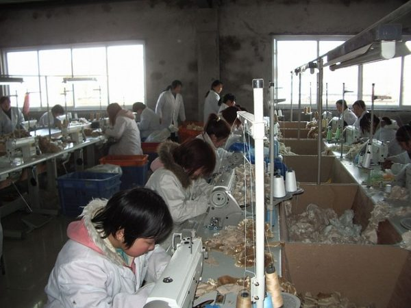 workers in a sewing factory