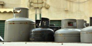 tanks of liquefied petroleum gas
