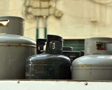 tanks of liquefied petroleum gas