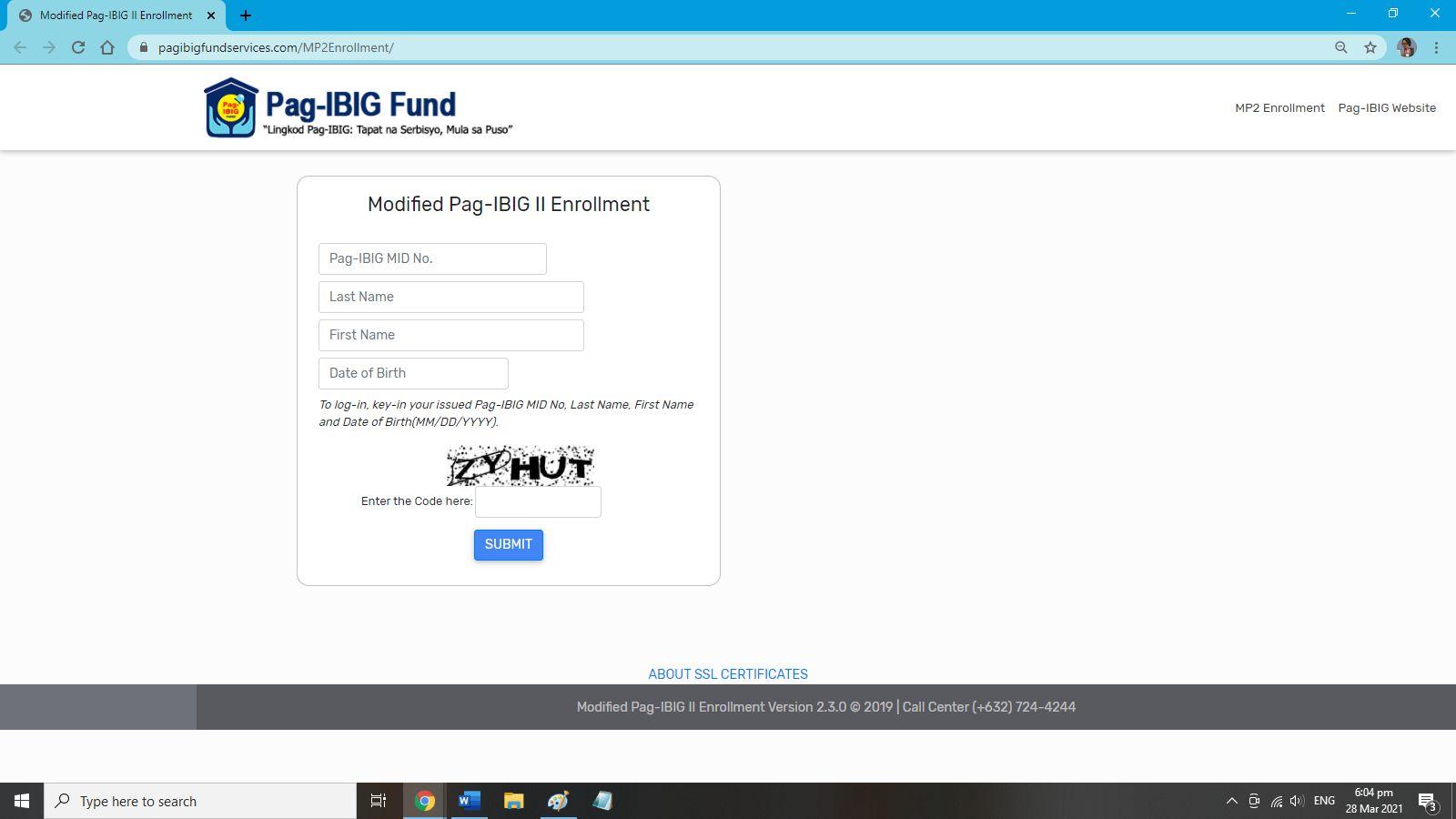Pag-ibig MP2 registration